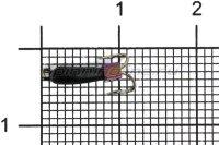 Мормышка Volfram37 Коза Уралка d2.5 кубик хамелеон