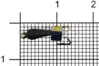 Мормышка Volfram37 Коза Уралка d3 кубик хамелеон