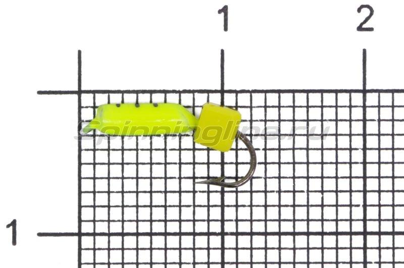 Мормышка Volfram37 Столбик d2 сырный кубик лимонный -  1