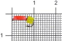 Мормышка Volfram37 Столбик d1.5 сырный кубик красный