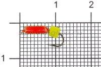Мормышка Volfram37 Столбик d2 сырный кубик красный