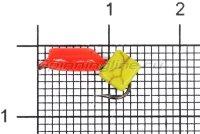 Мормышка Volfram37 Столбик d3 сырный кубик красный