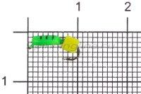 Мормышка Volfram37 Столбик d1.5 сырный кубик зеленый