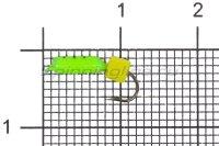 Мормышка Volfram37 Столбик d2 сырный кубик зеленый