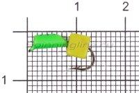 Мормышка Volfram37 Столбик d2.5 сырный кубик зеленый