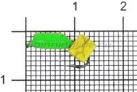 Мормышка Volfram37 Столбик d3 сырный кубик зеленый