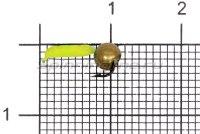 Мормышка Volfram37 Столбик d1.5 латунный шарик лимонный