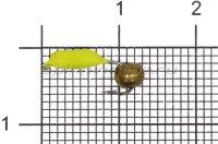 Мормышка Volfram37 Столбик d2 латунный шарик лимонный