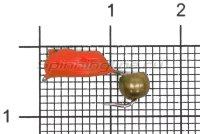 Мормышка Volfram37 Столбик d3 латунный шарик красный