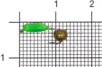 Мормышка Volfram37 Столбик d2 латунный шарик зеленый