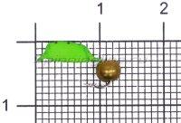 Мормышка Volfram37 Столбик d2.5 латунный шарик зеленый