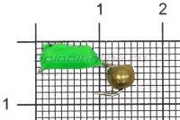 Мормышка Volfram37 Столбик d3 латунный шарик зеленый