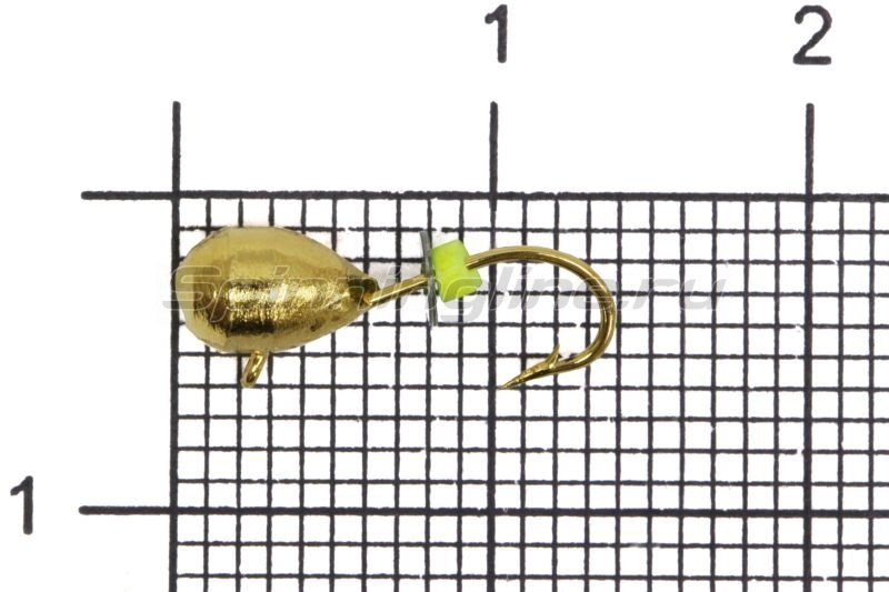 Мормышка Volfram37 Капля d4 золото -  1