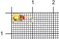 Мормышка Volfram37 Дробь d4 золото