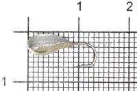 Мормышка Shape свинцовая с коронкой MB035 мельхиор