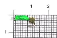 Мормышка True Weight Гвоздекубик зеленый d1.5 золото кр.hayabusa