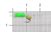 Мормышка True Weight Гвоздекубик зеленый d2 золото кр.hayabusa