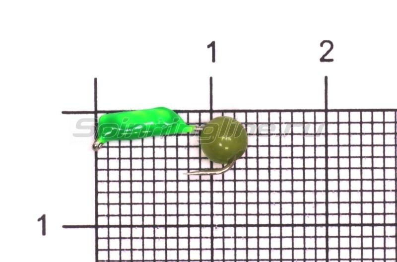 Мормышка True Weight Гвоздешарик зеленый Кошачий глаз d1.5 салатовый кр.hayabusa -  1