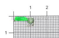 Мормышка True Weight Гвоздешарик зеленый Кошачий глаз d1.5 светло-зеленый кр.hayabusa