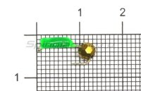 Мормышка True Weight Гвоздешарик зеленый d1.5 многогранный золото кр.hayabusa