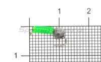 Мормышка True Weight Гвоздешарик зеленый d1.5 многогранный серебро кр.hayabusa