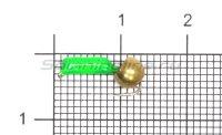 Мормышка True Weight Гвоздешарик зеленый d1.5 латунь кр.hayabusa