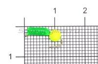 Мормышка True Weight Гвоздешарик зеленый d1.5 ядреный глаз желтый неон кр.hayabusa