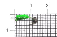 Мормышка True Weight Гвоздешарик зеленый d2 многогранный серебро кр.hayabusa