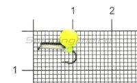 Мормышка Volfram37 Столбик d1.5 с фосфором неон