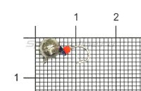 Мормышка Volfram37 Дробь d5 серебро