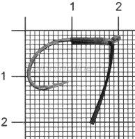 Крючок Vanfook DS-21WB №2