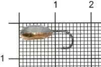 Мормышка Shape свинцовая с коронкой MB027 медь
