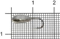 Мормышка Shape свинцовая с коронкой MB027 мельхиор