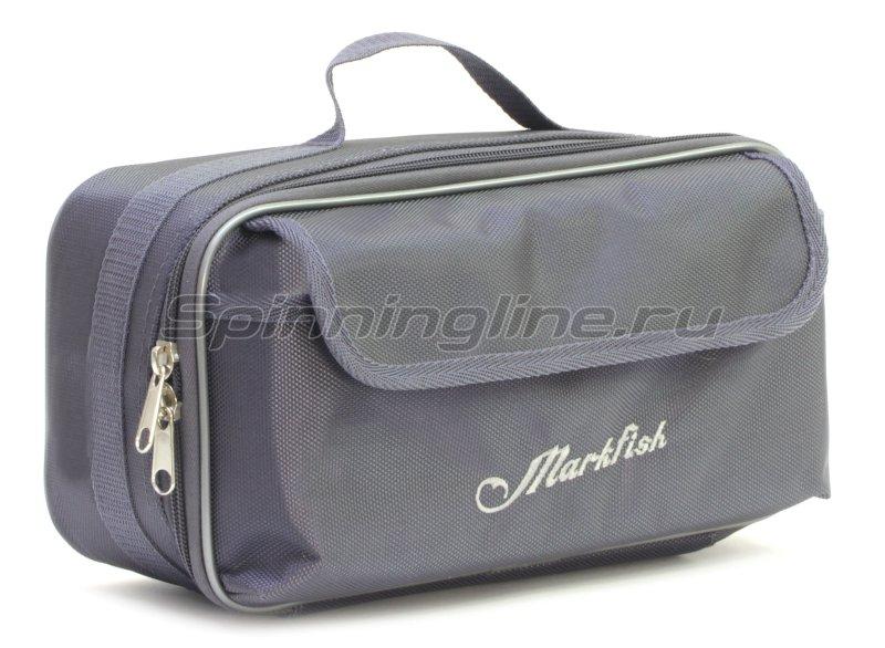Чехол Markfish для 2 спиннинговых катушек с карманом серый -  1