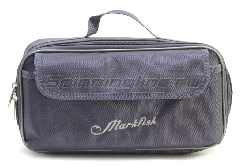 Чехол Markfish для 2 спиннинговых катушек с карманом серый -  2