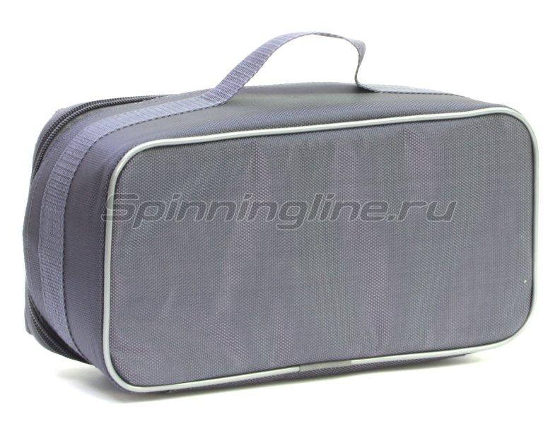 Чехол Markfish для 2 спиннинговых катушек с карманом серый -  4