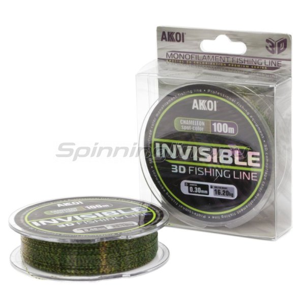 Леска Akkoi Invisible 3D 100м 0,30мм -  1