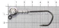 Джиг-головка Narval ZG 120 4/0 14гр упаковка 3 штуки