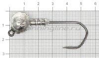 Джиг-головка Narval ZG 120 4/0 20гр упаковка 3 штуки