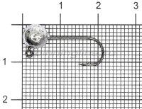 Джиг-головка шар AMFishing кр. Gamakatsu №6 2гр