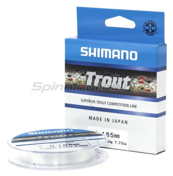 Леска Shimano Trout 150м 0,185мм, арт. TRO15018 – купить по цене 466 рублей в Москве и по всей России в рыболовном интернет-магазине Spinningline