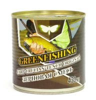 Зерновой микс Greenfishing Карп Карась -Линь 430гр