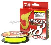Шнур Daiwa J-Braid Grand X8 135м 0,24мм yellow