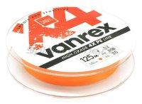 Шнур Lucky John Vanrex X4 125м 0,12мм Fluo Orange