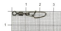 Вертлюг с карабином Nautilus Hooked Snap NE0302 №6