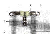 Вертлюг с бусинами Nautilus NE0202 №3х4