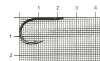 Крючок Daiichi Drop Shot'n Nose Hook №1/0 Black Nickel