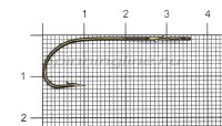 Крючок Tru Turn Bass 047ZS №2 Bronze