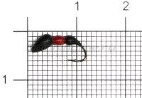 Мормышка Левша НН Лесной Муравей-жнец d2,7мм черно-красный