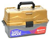 Ящик рыболовный Nisus Tackle Box трехполочный золотой